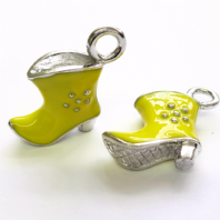 5 Yellow Enamel 21mm Boots charms